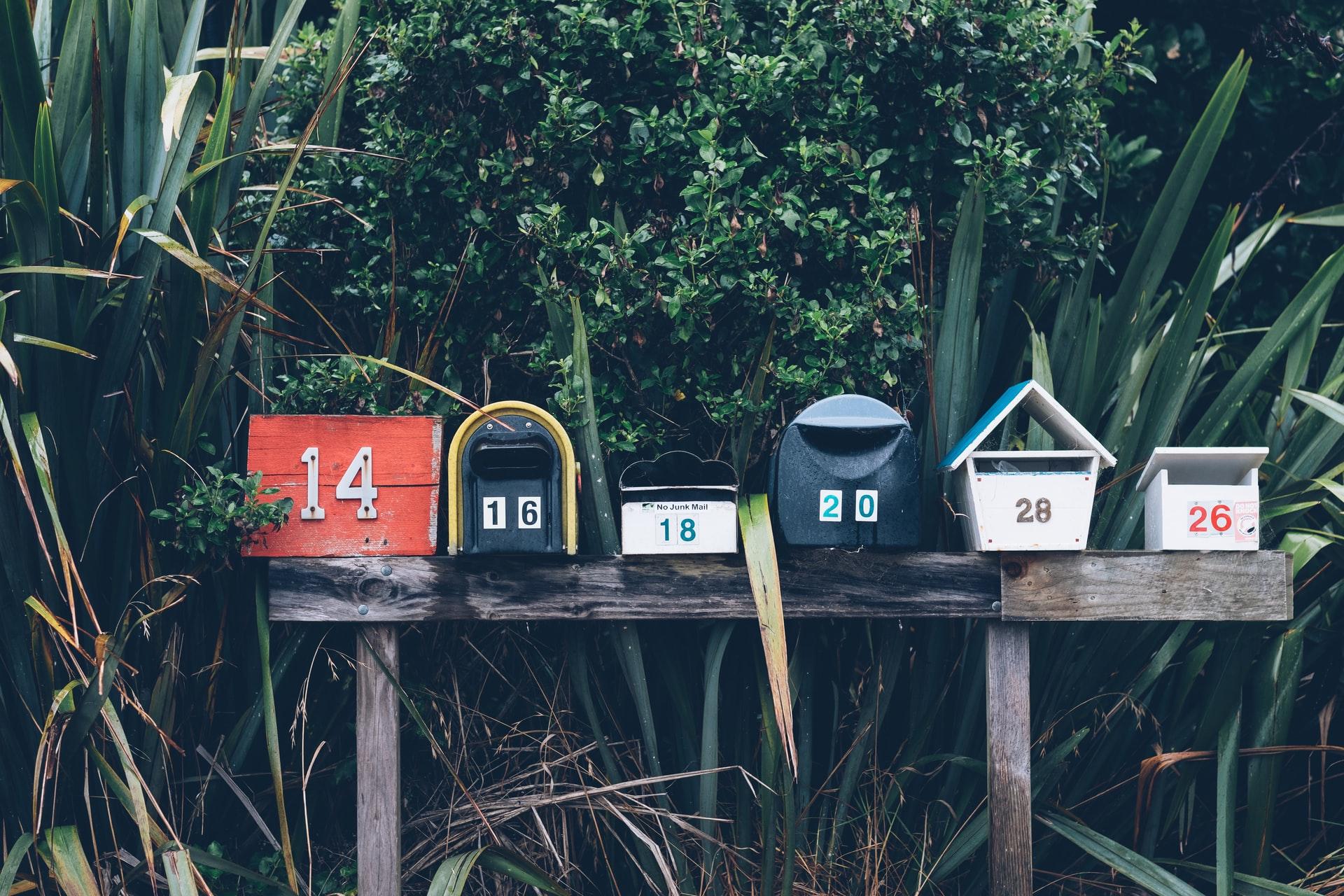 Várias caixas de correio