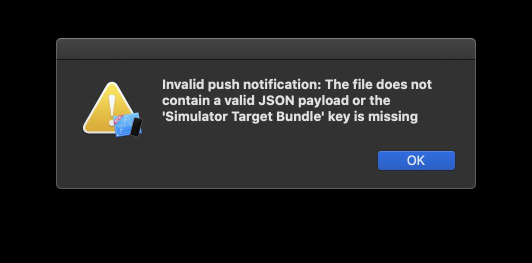 Missing Simulator Target Bundle error
