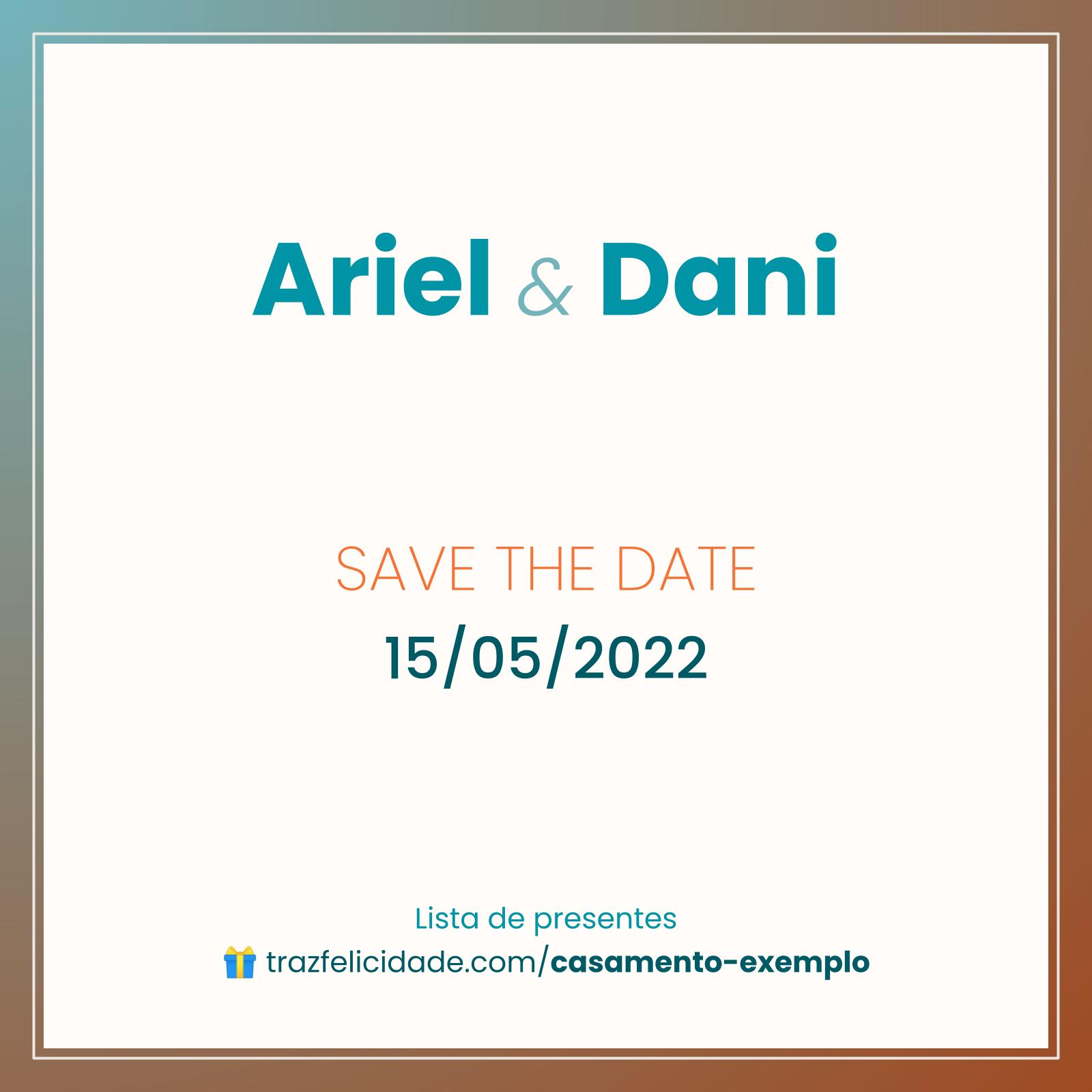 Save the Date modelo 1