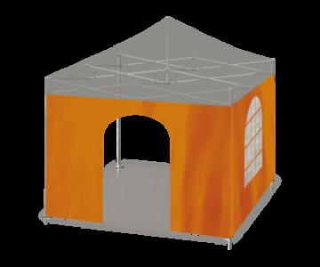 Seitwenwand - mit Bogentür oder transparentem Bogenfenster