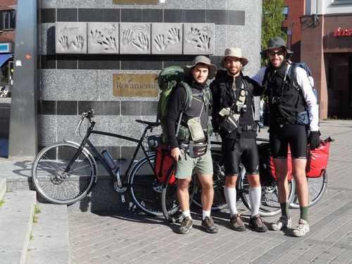 Thomas, Enrico e Stefano in quel di Rovaniemi.