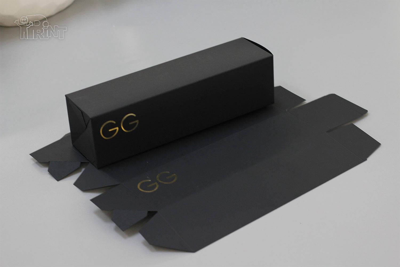 Kartoninė juoda dėžutė pakuotė