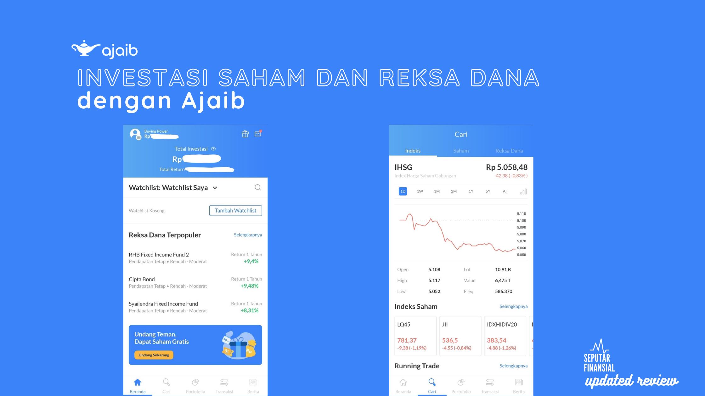 Review update: Investasi reksa dana DAN saham dengan Ajaib