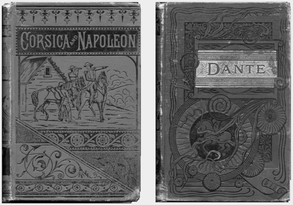 An image of two books made in the time of Goethe