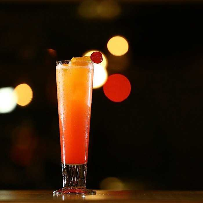 Amaretto Sunset Cocktail
