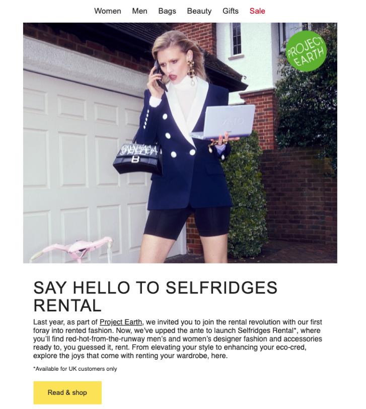 Newsletter Ideas - Selfridges