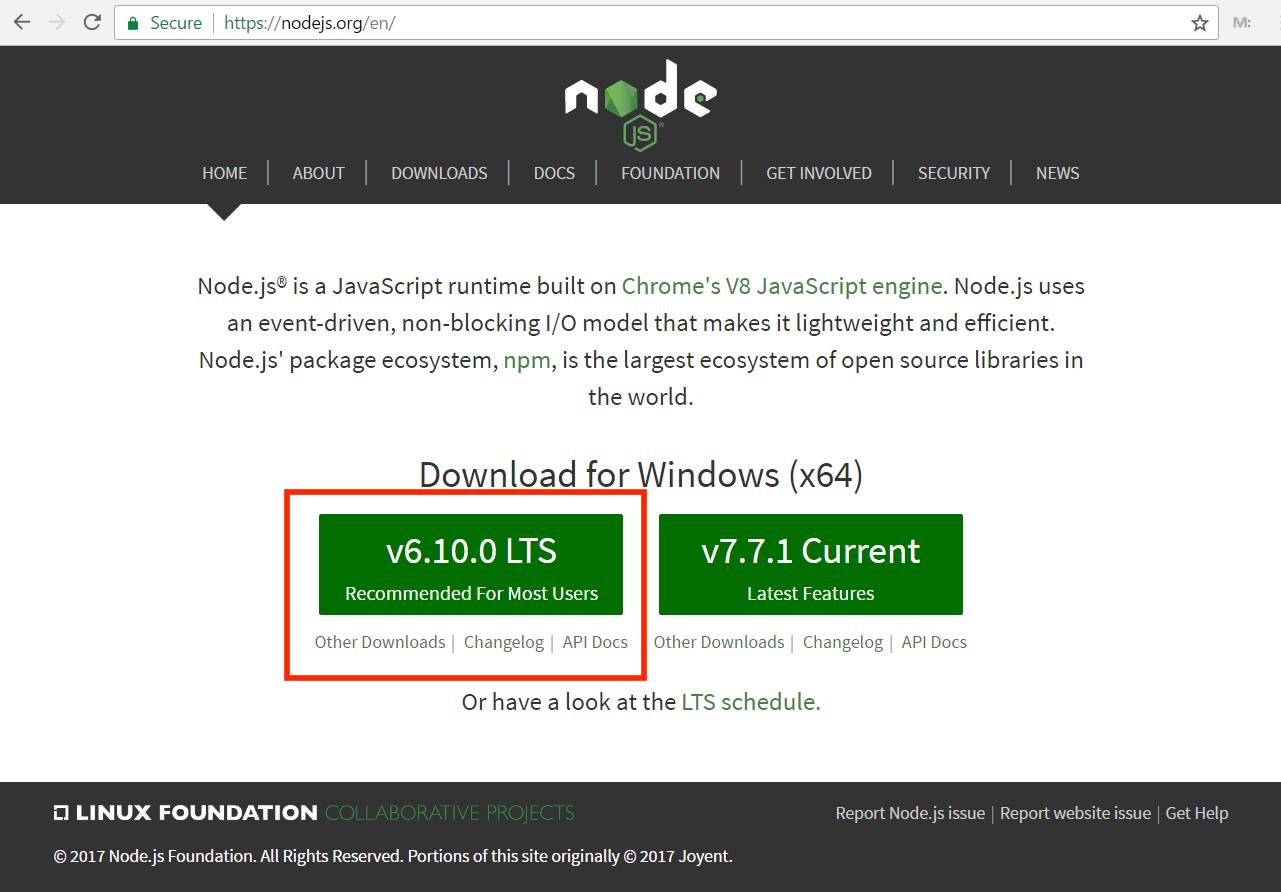 كيفية تثبيث NodeJS و NPM على ويندوز 7, 8.1 و 10