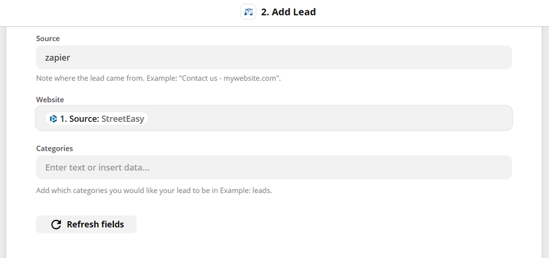 customize lead details to send to wise agent
