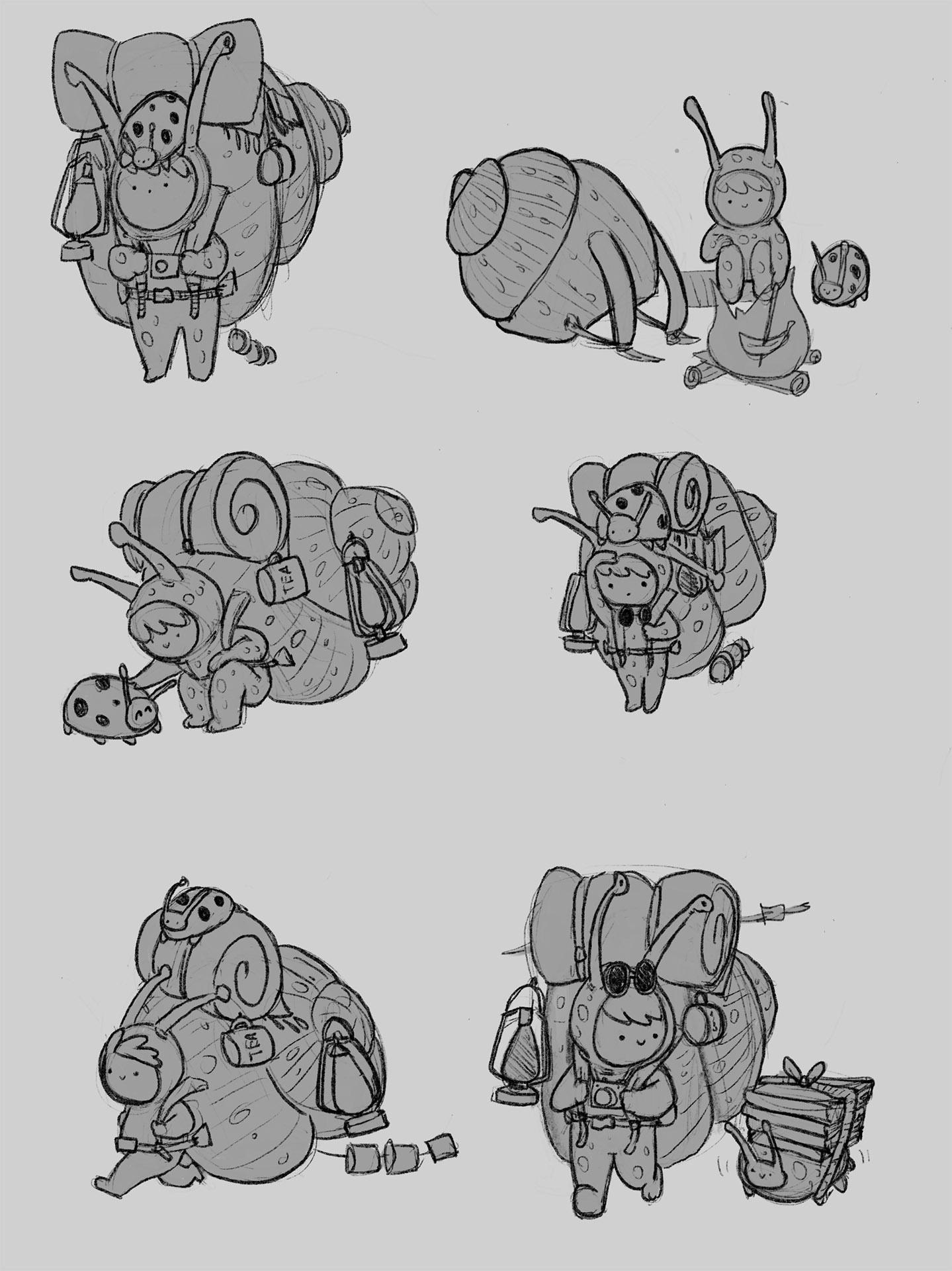 Backpacker sketch 1 image