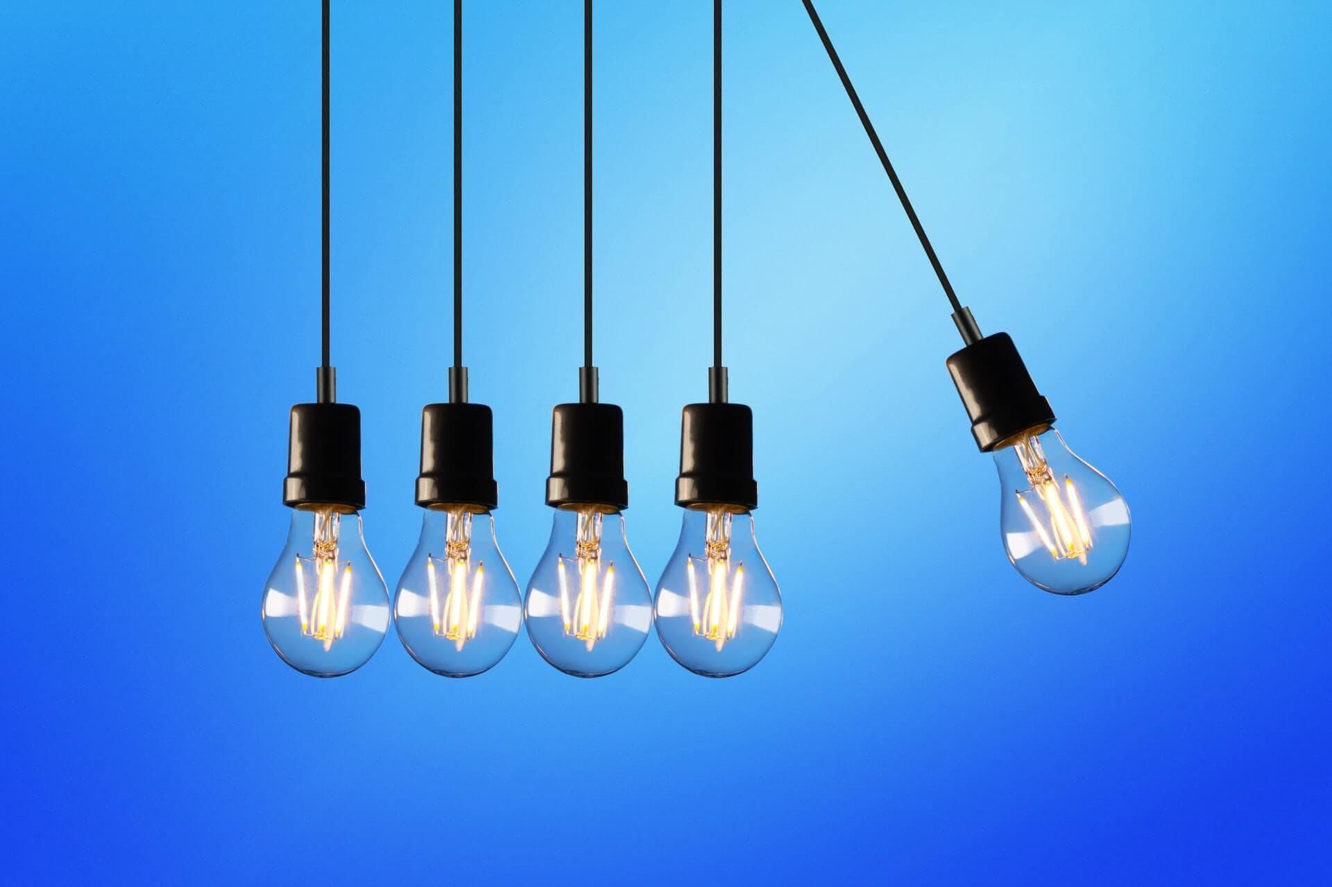 cinque lampadine