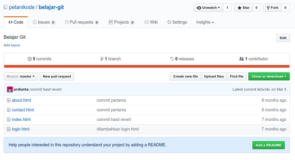 repository remote di Github
