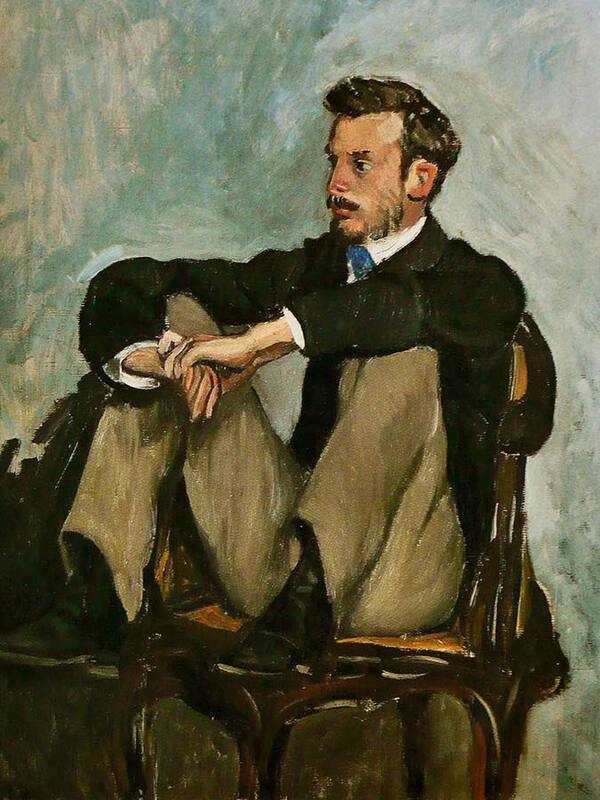 Frederic Bazille's portrait of a young Renoir.