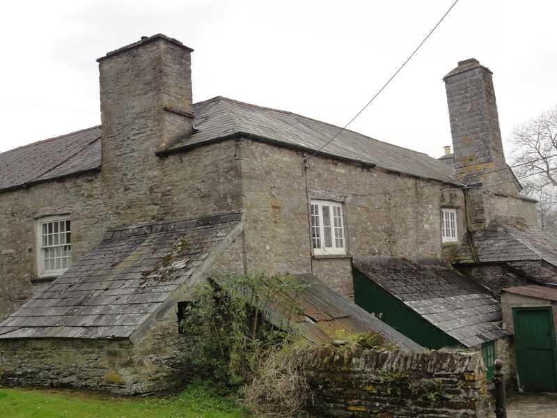 Tudor chimney on right