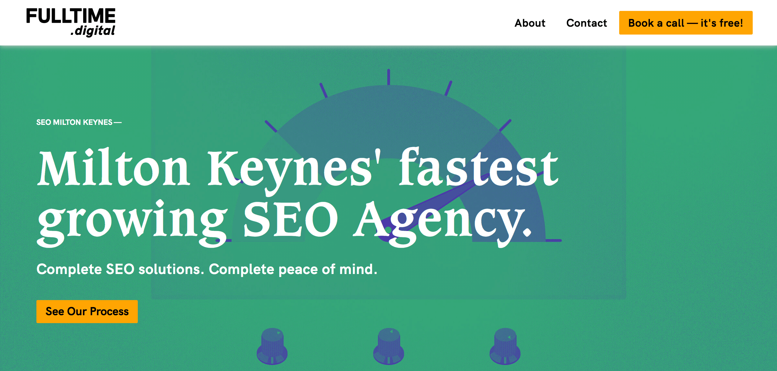 SEO services page hero section, example for H1 tag