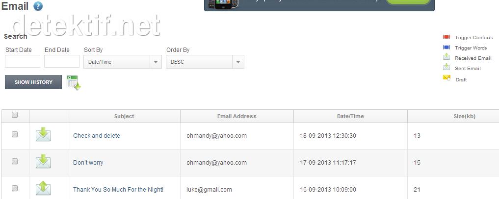 penyadap pesan email dengan software stealth-genie