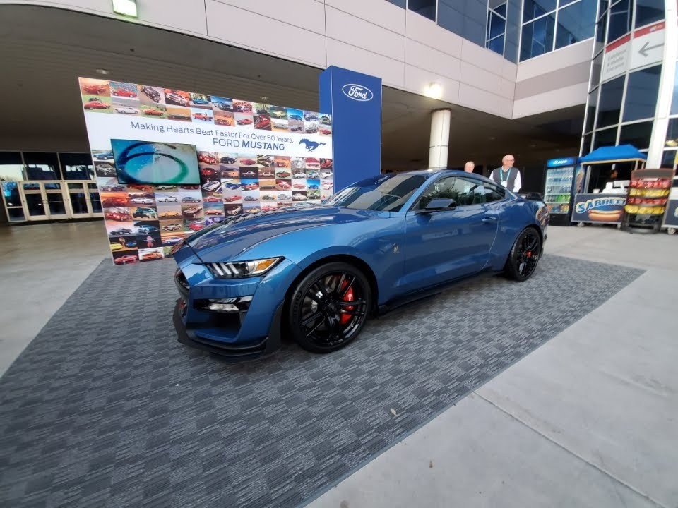 Ford Mustang display at the 2019 Consumer Electronics Show