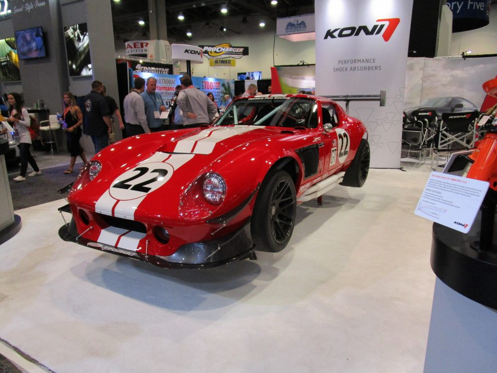Red Race Car with White Stripes