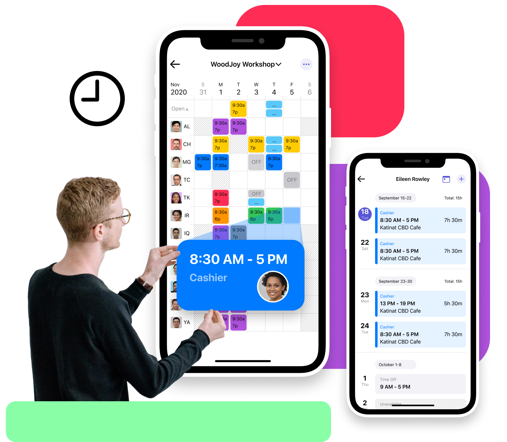 Free scheduling and shifts planning mobile app