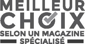 Logo Meilleur choix selon un magazine spécialisé