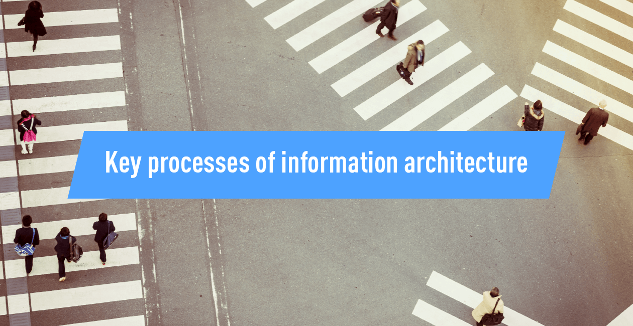 Key processes of information architecture