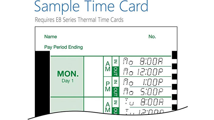 Lathem 2100HD time card
