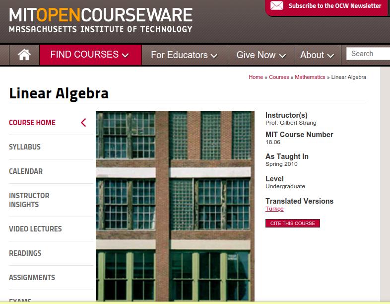 Linear Algebra - MIT