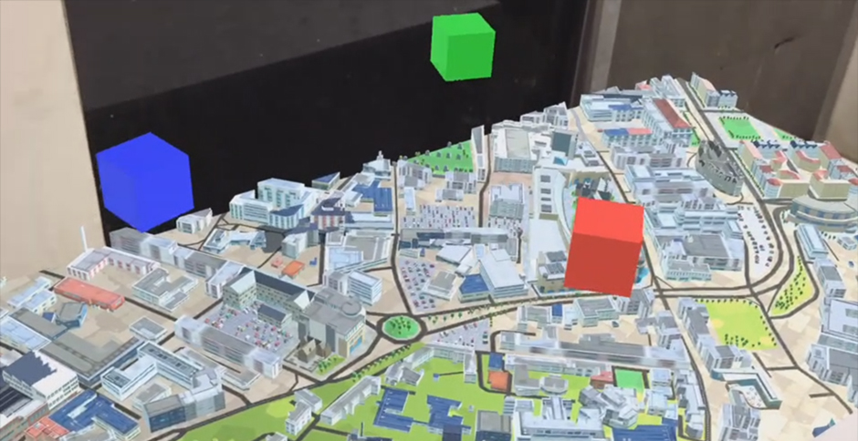 3D maps with AR and VR