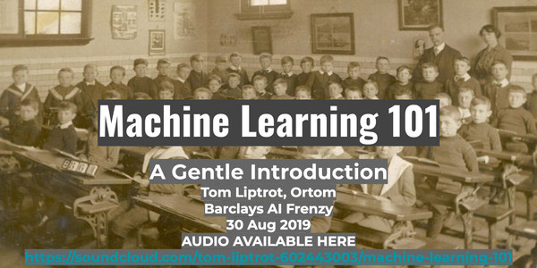 featured image thumbnail for post Machine Learning 101 Talk