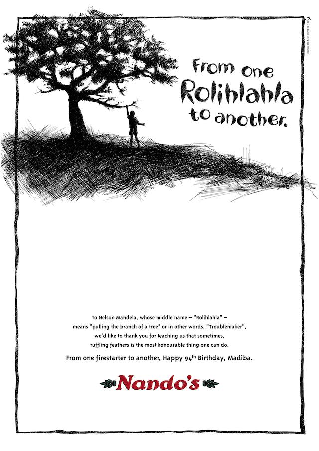 Nando's Wish Madiba Happy 94th Birthday