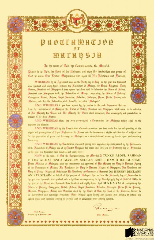 Proclamation of Malaysia