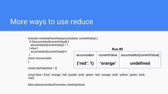 Using Reduce 12