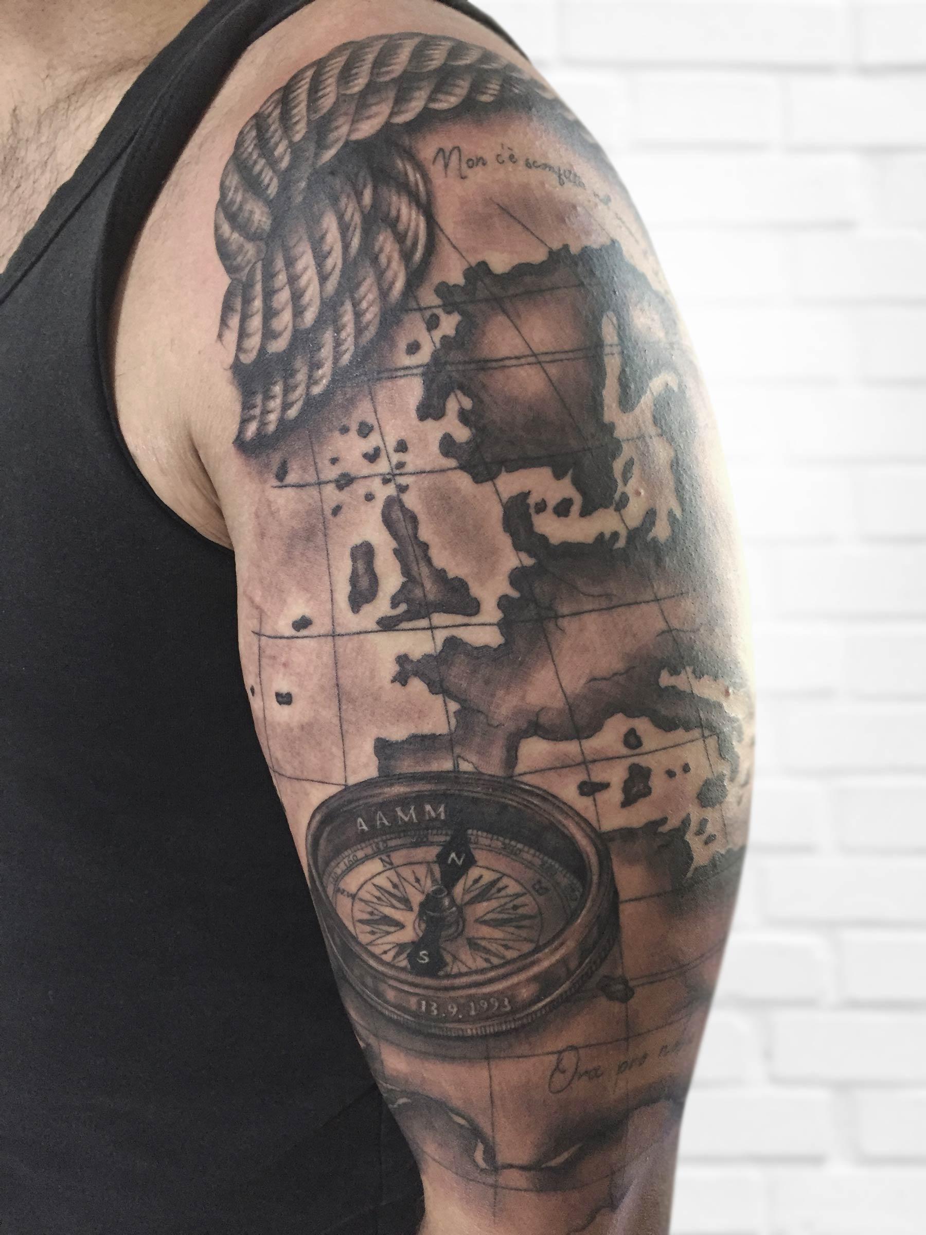tatuaje mapa