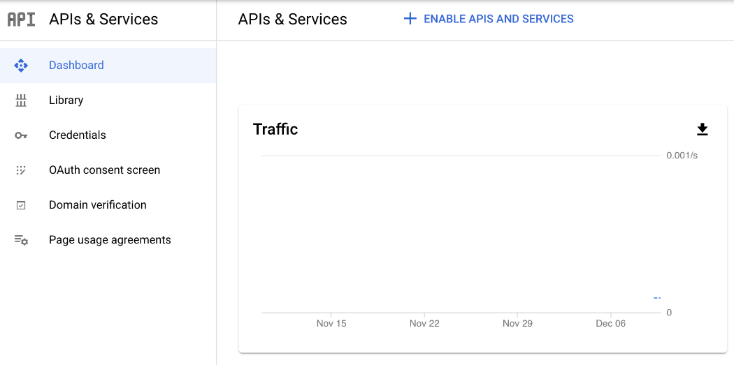 Google Console Enable APIs