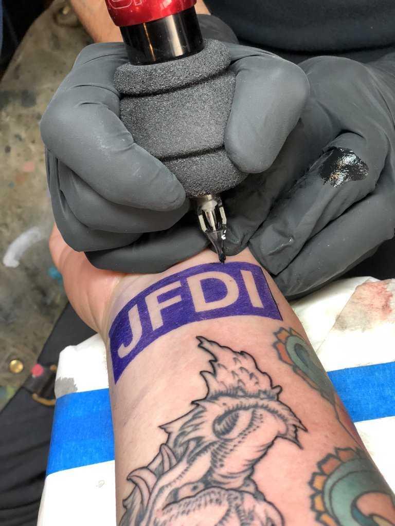 a tattoo JUST FUCKIN DO IT