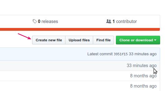 Menambahkan file baru di Github