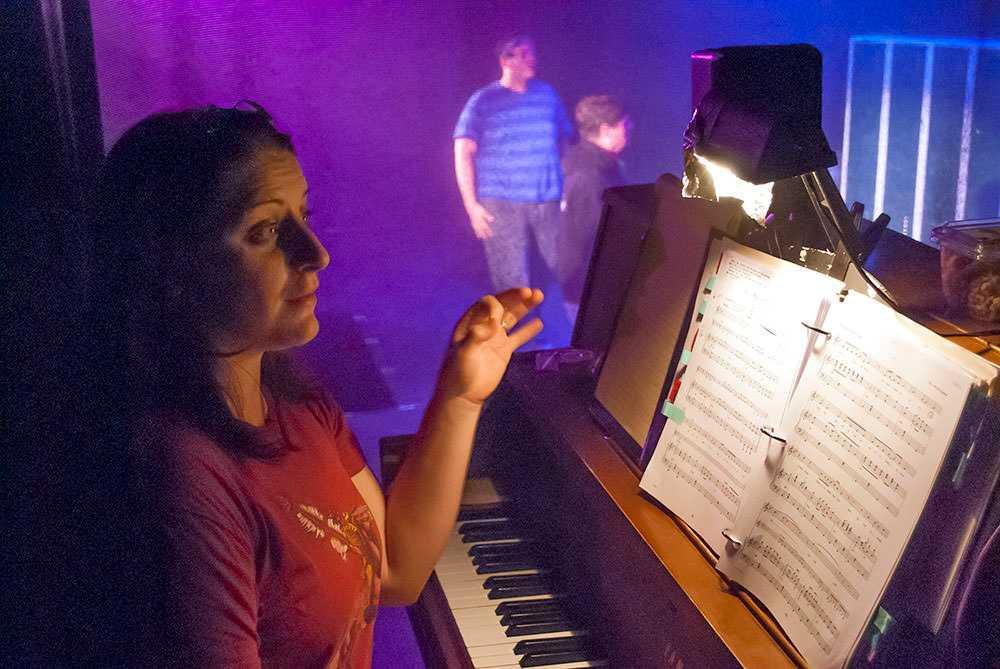 Amanda at the piano