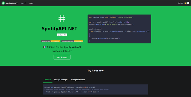 SpotifyAPI-NET