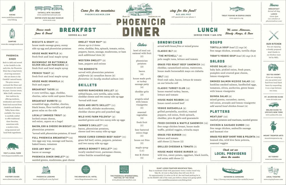 Phoenicia Diner Menu