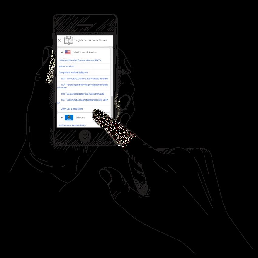 Worker view of legislation on mobile