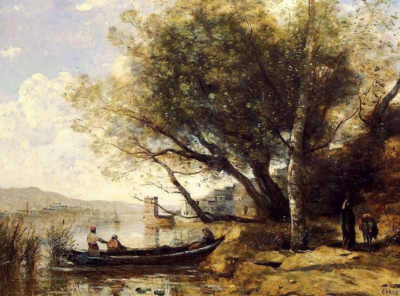 Bornova, İzmir, by Camille Corot 1873