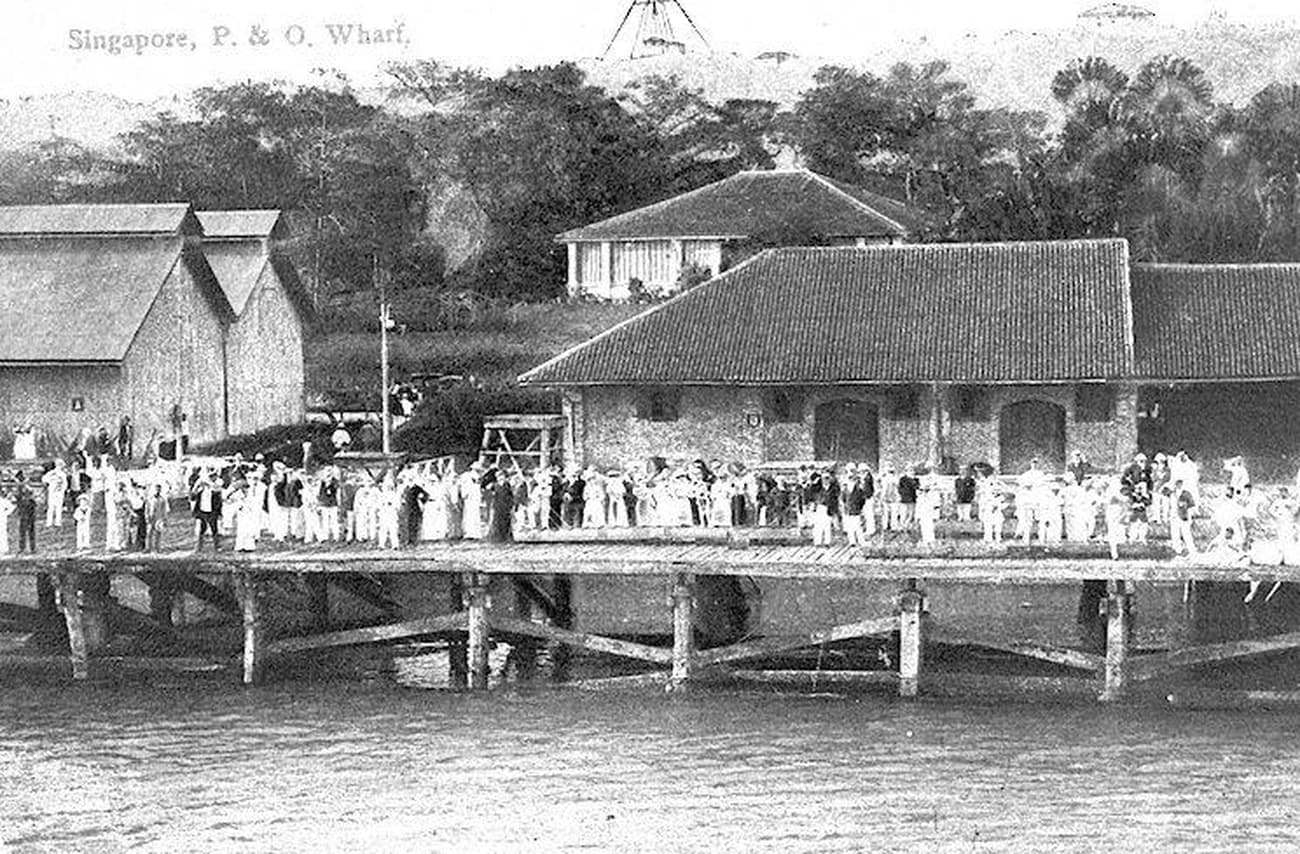 P&O Wharf at New Harbour, c. 1900