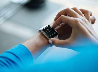 Software development view at healthcare wearables photo