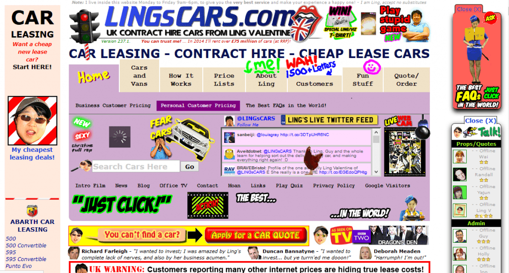 Lingscar website design