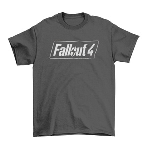 Fallout 4 Logo Men's Charcoal  T-Shirt