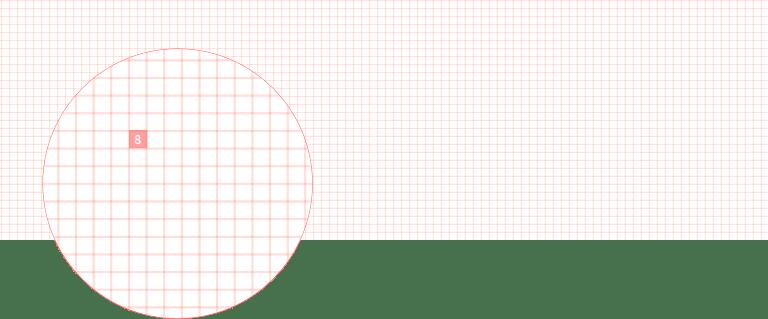 grid 8 pixels detail