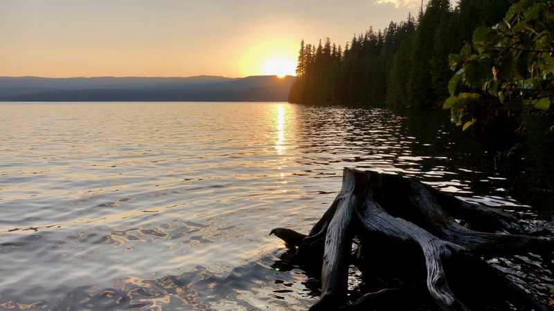 Sunset at Timothy Lake