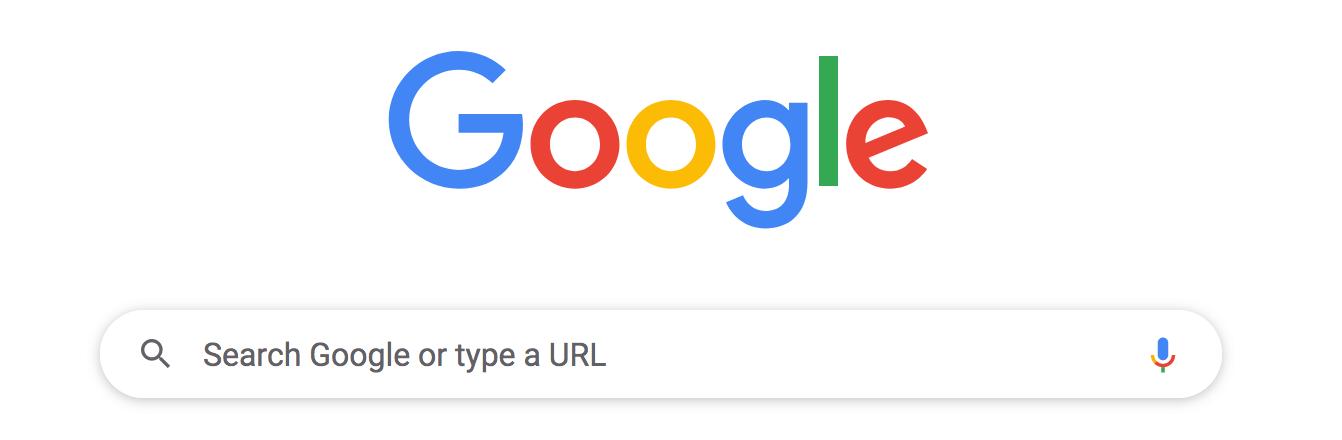 google search web page