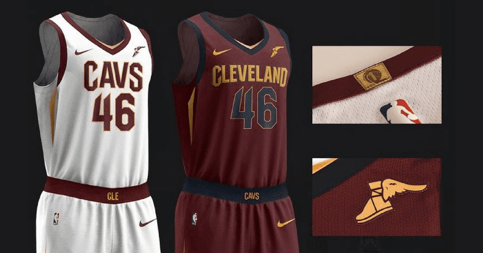 NBA Cleveland Cavaliers jerseys with sponsorships