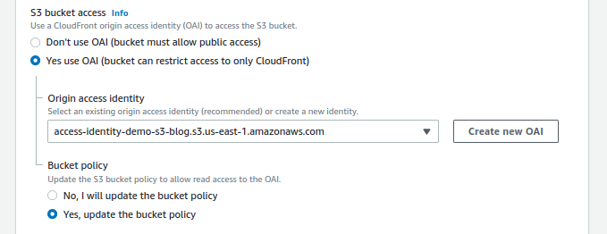 CloudFront Integration S3 Bucket Access
