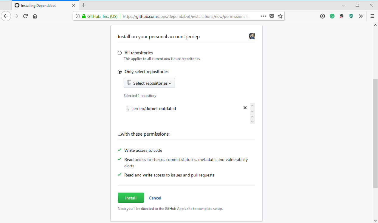 Give access to repositories